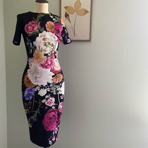 ASOS Bardot Floral Scuba Dress